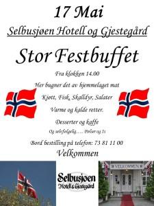 17 mai 2015 Selbusjøen Hotell og Gjestegård